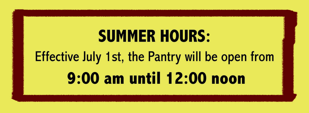 pantry summer hours