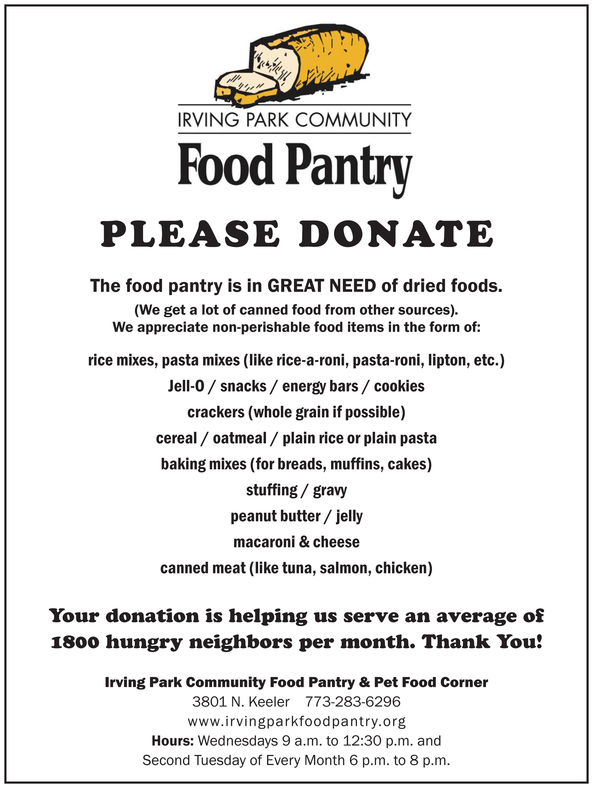 Allen Community Outreach Food Pantry